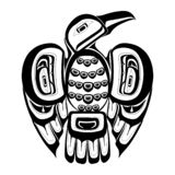 Haida bird tattoo. royalty free illustration