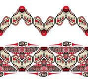 Haida style seamless pattern Stock Photography