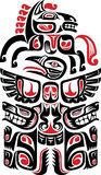 Haida style tattoo design. Created with animal images Royalty Free Stock Photos