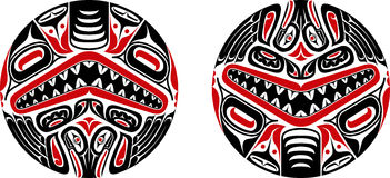 Haida style tattoo design Royalty Free Stock Image