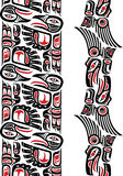 Haida style tattoo pattern Royalty Free Stock Images