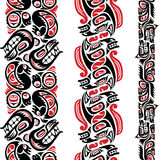 Haida style tattoo pattern Stock Photo