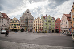 Haidplatz, town square in Regensburg,Germany Stock Photo