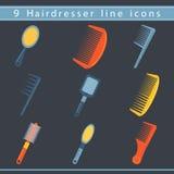 Haidresser icons Royalty Free Stock Images