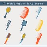 Haidresser ikony Obrazy Stock