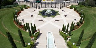 Haifa Bahai garden Royalty Free Stock Photo