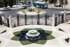 Haifa Bahai garden Stock Photos