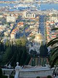 Haifa Bahai Gardens Royaltyfri Foto