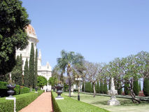 Haifa Bahai Gardens Alleya 2003 Fotografia Stock Libera da Diritti