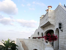 Haifa Bahai Gardens architectural structure 2003 Royalty Free Stock Images