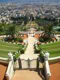 Haifa  Bahai gardens and port Israel Royalty Free Stock Image