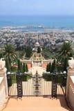 Haifa, Bahai ogródy & świątynia Baba, Zdjęcia Royalty Free
