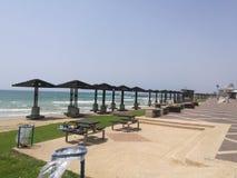 Haifa beach stock images