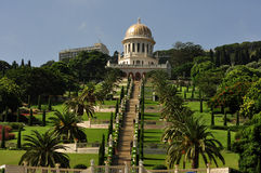 Haifa, the beauty of the Baha'i Gardens. Stock Photos