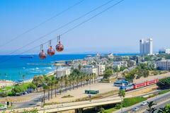 Haifa Cable Car royaltyfri foto