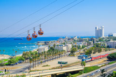 Haifa Cable Car royalty-vrije stock foto