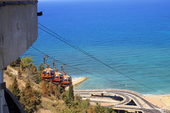Haifa Cable Cars, Israel Stockbilder