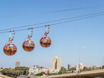 Haifa Cable Cars, Stadt Stockfotografie