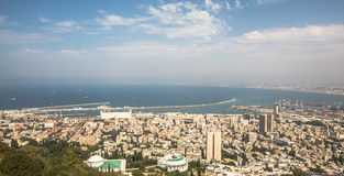 Haifa from the Carmel mountain northen Israel Stock Photo