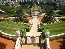 Haifa city Bahai gardens Israel Royalty Free Stock Images