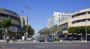 Haifa city center. Crossroad near the sea port in Haifa, Israel Stock Images