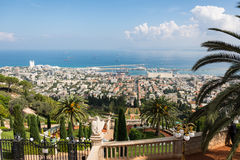 Haifa do passeio de Yefe Nof Foto de Stock Royalty Free