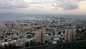 Haifa från Israel Arkivfoton