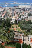 05 02 2016 haifa Israel Bahai ogródy Baha ` ja świątynia Góra Carmel Obrazy Stock