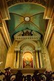 HAIFA, ISRAEL - CIRCA IM NOVEMBER 2011: Altar der Heiligen Maria in Stella Maris Church Stockfotos