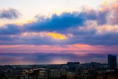 Haifa, Israel. Haifa Hebrew: חֵיפָה Hefa [χei̯ˈfa, ˈχai̯fa]; Arabic: حيفا Hayfa, is the third-largest city in the State of Israel after Royalty Free Stock Photos