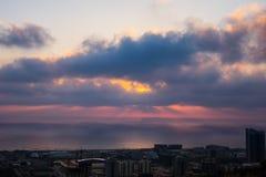 Haifa, Israel. Haifa Hebrew: חֵיפָה Hefa [χei̯ˈfa, ˈχai̯fa]; Arabic: حيفا Hayfa, is the third-largest city in the State of Israel after Stock Photo