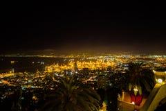 Haifa, Israel. Haifa Hebrew: חֵיפָה Hefa [χei̯ˈfa, ˈχai̯fa]; Arabic: حيفا Hayfa, is the third-largest city in the State of Israel after Royalty Free Stock Image