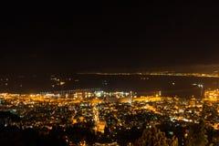 Haifa, Israel. Haifa Hebrew: חֵיפָה Hefa [χei̯ˈfa, ˈχai̯fa]; Arabic: حيفا Hayfa, is the third-largest city in the State of Israel after Stock Image