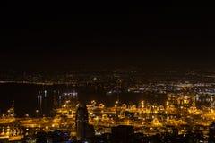 Haifa, Israel. Haifa Hebrew: חֵיפָה Hefa [χei̯ˈfa, ˈχai̯fa]; Arabic: حيفا Hayfa, is the third-largest city in the State of Israel after Stock Photography