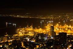 Haifa, Israel. Haifa Hebrew: חֵיפָה Hefa [χei̯ˈfa, ˈχai̯fa]; Arabic: حيفا Hayfa, is the third-largest city in the State of Israel after Royalty Free Stock Photography