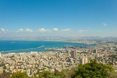 Haifa Israel panoramic view Stock Image
