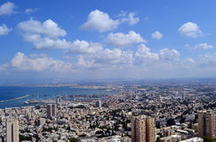 Haifa Israel-Stadtbild Lizenzfreies Stockfoto