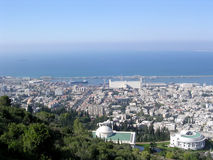 Haifa lower part of the city 2004 Royalty Free Stock Photos