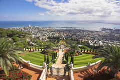 Haifa and Mediterranean sea Royalty Free Stock Photography