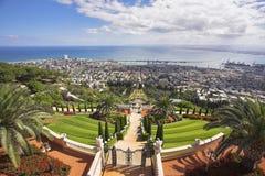 Haifa and Mediterranean sea Royalty Free Stock Photography