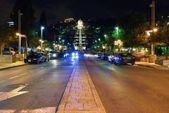 Haifa, night view Stock Photography