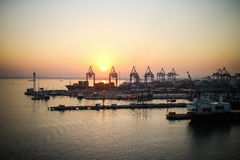 Haifa - o porto industrial Imagem de Stock