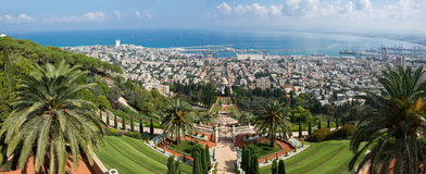 Haifa Panorama Stockfotos