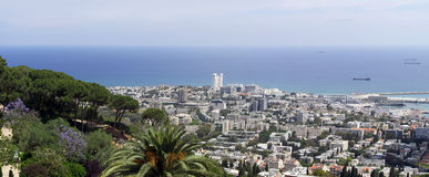 Haifa panorama Zdjęcie Stock