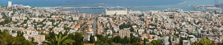 Haifa panorama city Fotografia Royalty Free