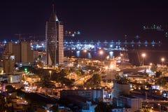 Haifa pejzaż miejski przy zmierzchem Fotografia Stock