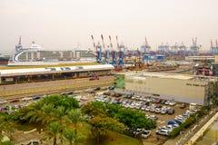 Haifa portu teren Fotografia Royalty Free