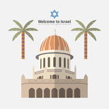 Haifa poster. Flat icon. Vector template Royalty Free Stock Photos