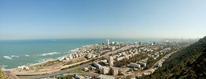 Haifa, punto di vista di Israel Panoramic fotografie stock libere da diritti