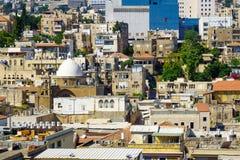 Haifa Roofs du centre Photographie stock